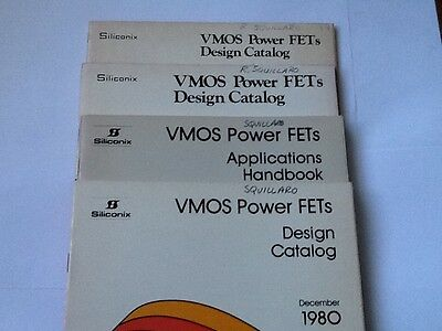 Lot Of 4 Siliconix Booklets On VMOS Power FETs 1977-1980