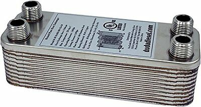 Duda Energy HX1220:M12 B3-12A 20 Plate Stainless Steel Heat Exchanger with 1/2""