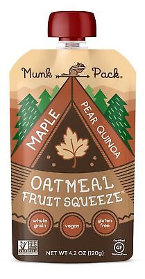 Munk Pack Oatmeal Fruit Squeeze   Maple Pear Quinoa Ready-to-Eat Oatmeal On T...