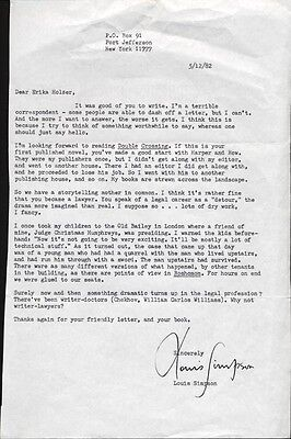 Louis Simpson - Typed Letter Signed 05/12/1982