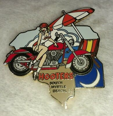 Hooters Restaurant Lapel Pin Myrtle Beach, South Carolina SC Motorcycle Bike