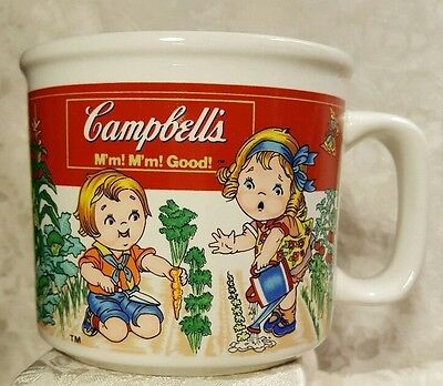 1993 Westwood Collectible Campbell's Kids Soup Mug Cup In the Vegetable Garden