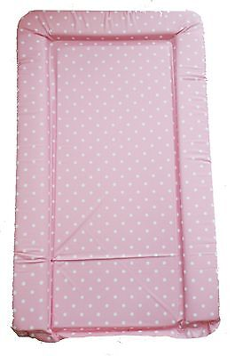 Girls Deluxe PVC Change Changing Mat Pink And White Polka Dots Waterproof Soft