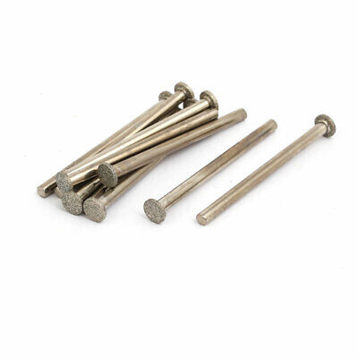 1.2mmx6mmx45mm Diamond Coated T Shape Grinding Mandrel Mounted Points 10pcs