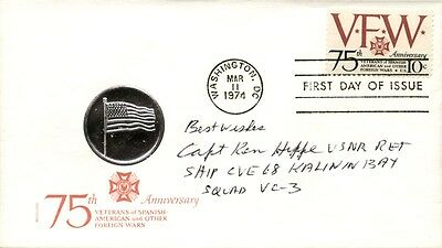 Ken Hippe - First Day Cover With Autograph Sentiment Signed