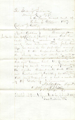 Richard J. Gatling - Document Signed 10/1857