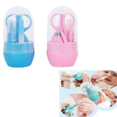 Set of 4 Baby Grooming Manicure Set - Scissor Nail Clipper Emery Board Safety LG