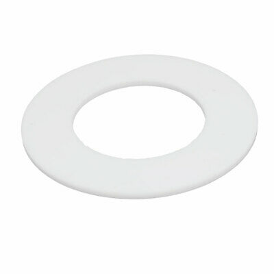 102mmx57mmx3mm DN50 PTFE Round Flat Washer Gasket Seal Ring White