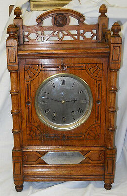 Bracket/Mantel Clock musical 8 bells and gong Masonic interest