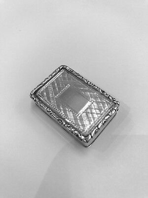 A VICTORIAN SILVER VINAIGRETTE 1842 by EDWARD SMITH, BIRMINGHAM
