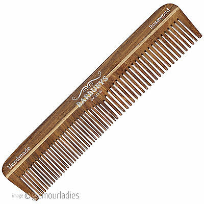 Barburys Large Rosewood 03 Handmade Barbering Cutting Hair Comb Thick / Thin