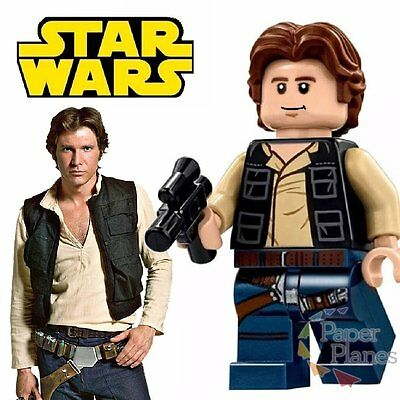 Han Solo Minifigure fits Lego Toy Star Wars H72662