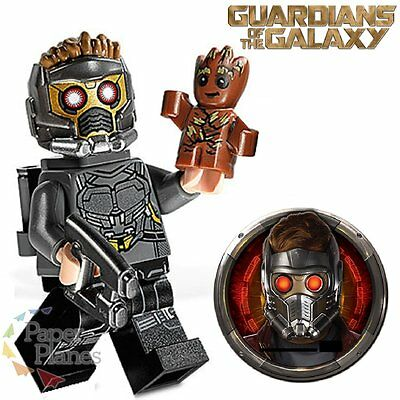Star Lord Minifigure w/ Baby Groot fits Lego Guardians of the Galaxy Vol2 H72155