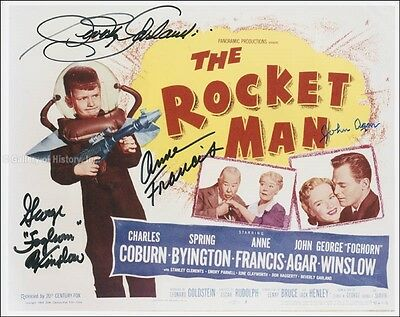 The Rocket Man Movie Cast (1954) - Photograph Signed With Co-Signers