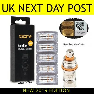 Genuine Aspire Nautilus / Mini BVC Replacement Clearomiser Coils 1.6 & 1.8 ohm