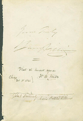 Barney Williams - Autograph Sentiment Signed With Co-Signers