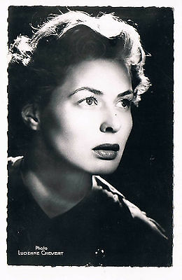 Ingrid Bergman Par Lucienne Chevert Carte Photo Originale