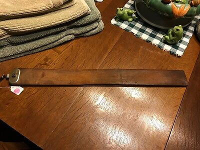 Antique Wagner Leather Razor Strop 481 Imported Scotch Linen - Extra Heavy 9600