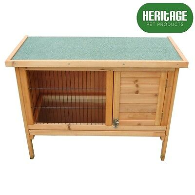 Heritage Wooden Rabbit Hutch 3FT Run Cage Guinea Pig Ferret Coop Outdoor House