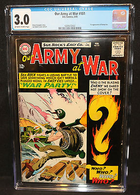 Our Army at War #151 - 1st App of Enemy Ace - CGC Grade 3.0 - 1965