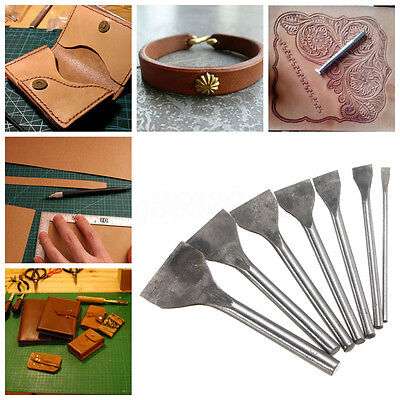7 in 1 SET DIY Flat Leder Werkzeug Leather Craft Punch Tool Set Kit 5 Bis 35mm
