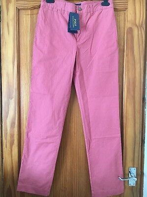 Boys Ralph Lauren Pink Jeans Trousers New Tags Age 16 Years Bright Chinos