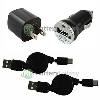 2 NEW USB Type C Cable+Car+Wall Charger for Motorola Moto Z/Z Force/Z Play Droid
