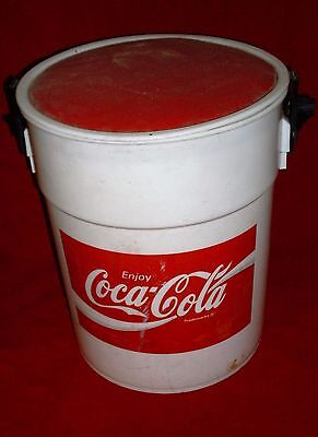 Coca Cola Styrofoam Bucket Cooler Vintage VERY NEAT!! ONE OF A KIND !!