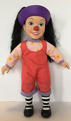 """Big Comfy Couch Loonette 15"""" Non-talking Clown Doll"""