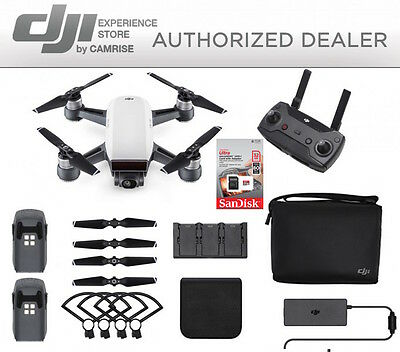 DJI Spark Fly More Combo enhanced bundle Drone White includes 32GB memory Card