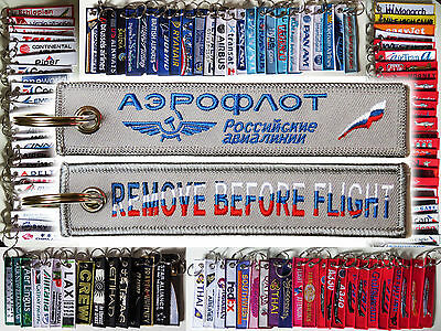 Keyring AEROFLOT RUSSIAN AIRLINES Remove Before Flight baggage tag keychain
