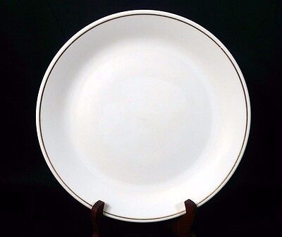 "*RARE* Syracuse China Syralite Restaurant Ware 9 5/8"" Steak Plate Gold Stripe"