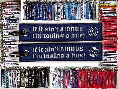 "Keyring ""If it's not Airbus, I'm taking a bus""! Airbus Company & fans slogan"