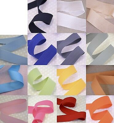 """25mm/ 1"""" Cotton Twill Apron Tape - Great Quality, Lovely Colours"""