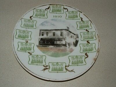 Vintage Advertising Chase Bros. La Forge, WI 1910 Calendar Plate