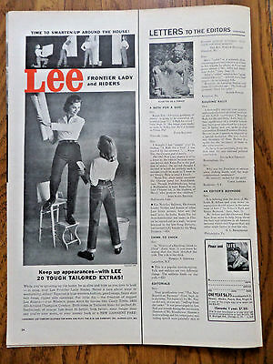 1956 Lee Riders Jeans Ad Frontier Lady & Riders Keep up Appearances
