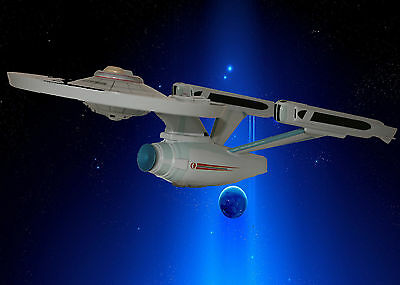 Uss Enterprise - Large Scale Totally Handcrafted And Handpainted Startrek Model