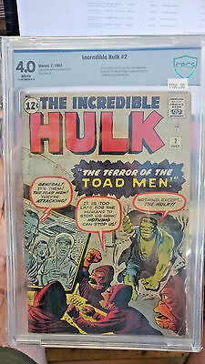 INCREDIBLE HULK #2 - CGC Grade 4.0 - First appearance of the GREEN HULK!!