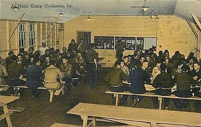Camp Claiborne LA~Army Mess Hall Interior~WWII Soldiers~Pvt Ralph Burling~1942