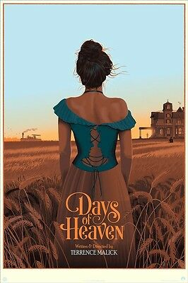Days of Heaven VARIANT Laurent Durieux silkscreen Mondo movie poster print #'d