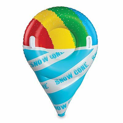 Giant Cone Design Inflatable Snow Riding Tube Winter Hill Sledding Sled Ride Toy