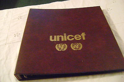 UNITED NATIONS(1958-1985)=LOT of STAMPS,S.SHEETS & FDC-on ALBUM-w/8-PAGES-lot #1