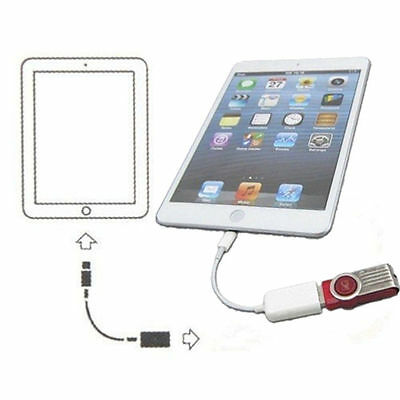 USB 2 Host to 8-Pin Camera Connection Kit Adapter OTG Cable For IPad Air 4 Mini
