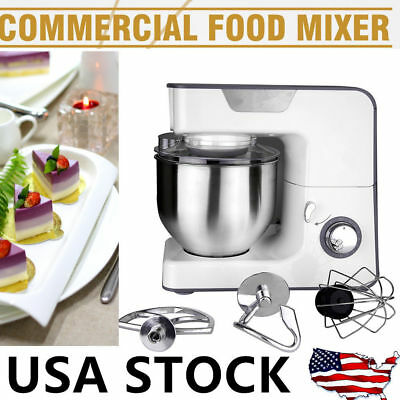 Electric 8 Speed Stand Food Whisk Blender Home Kitchen Egg Cake Mixer Beater New