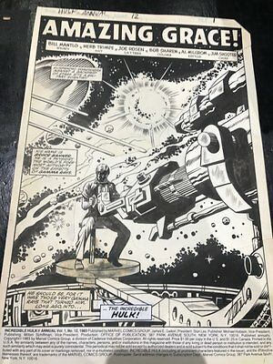 Incredible Hulk Annual #12 p.1 Title Splash - Signed Stan Lee '83 by Herb Trimpe