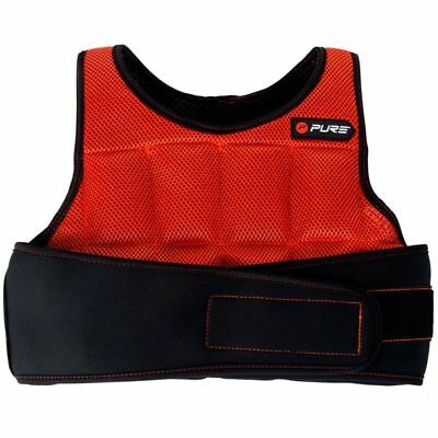 Pure2Improve Adjustable Weighted Vest 4.5 kg Fitness Sport Training P2I100140✓