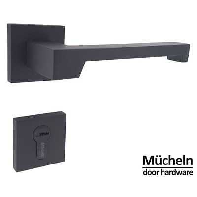 MATTE BLACK Door Handle ENTRANCE I M  cheln Square Series