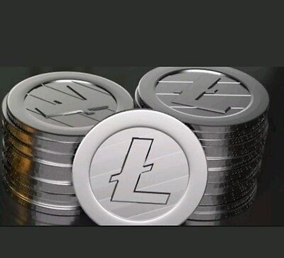 1.0 LiteCoin Lite Coin LTC Directly Wallet Cryptocurrency Crypto Currency