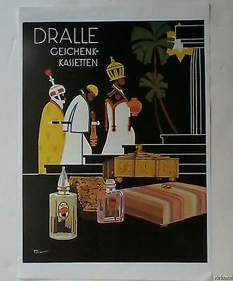 Vintage Art Deco DRALLE PERFUME Poster by TIBOR REZ 3 Kings Biblical Magi Theme