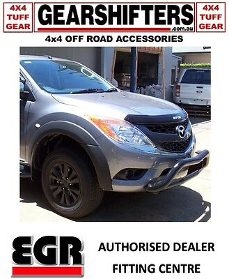 Egr Flares Front Only 4 Piece Mazda Bt50 All Cabs 2011 Unpainted Matte Black